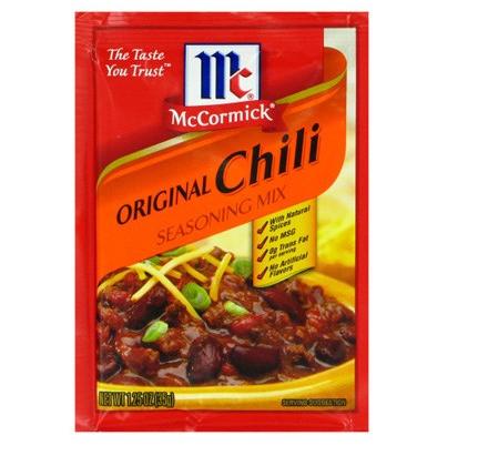 Assaisonnement pour chili con carne, Mc Cormick (35.5 g)