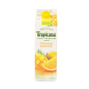 Jus d'orange/mangue frais, Tropicana (1 L)