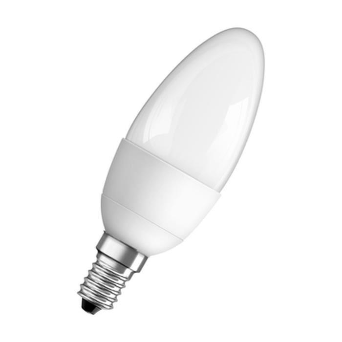 Ampoule Led flamme blanche chaude dépolie 4W, culot E14, Osram (x 1)