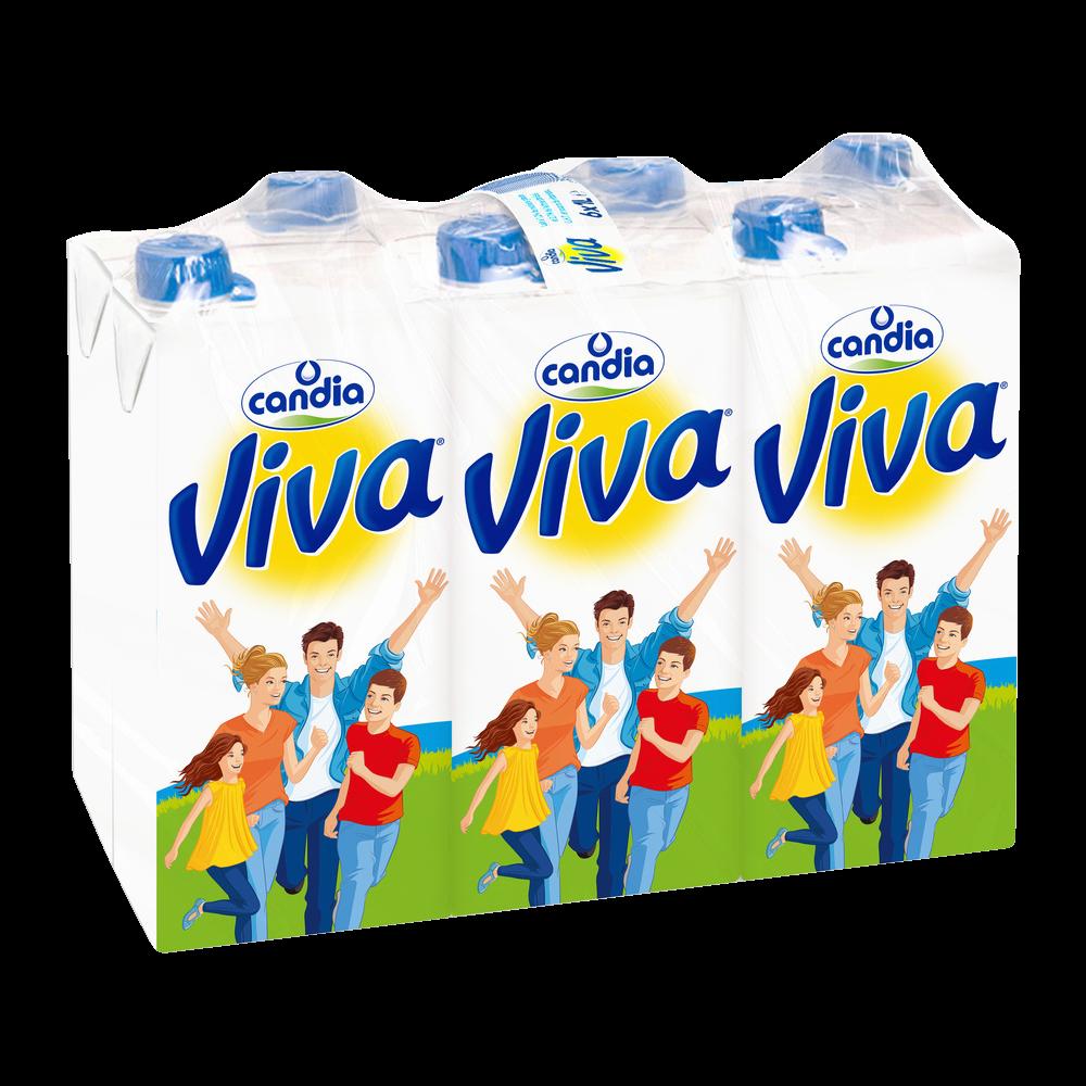 Pack de Lait demi-écrémé UHT, Viva (6 x 1 L)