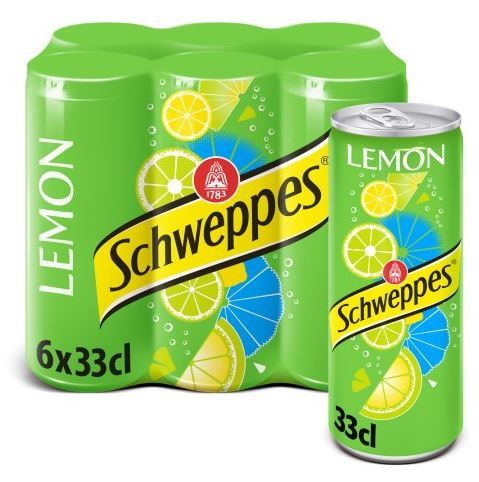 Pack de Schweppes Lemon (6 x 33 cl)