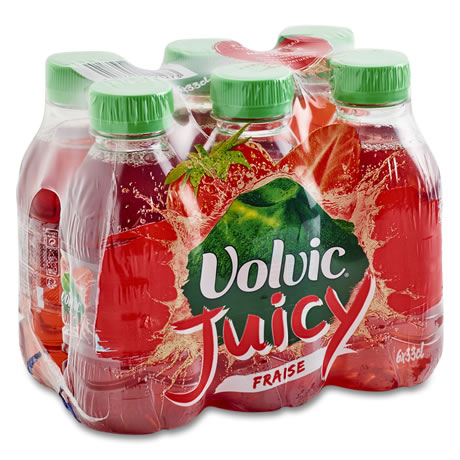 Pack de Volvic Juicy au jus de fraise (6 x 33 cl)