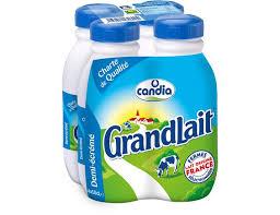 Pack Grandlait demi-écrémé, Candia (4 x 50 cl)