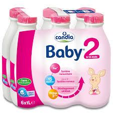 Pack Lait Babylait 2ème âge - dès 5 mois, Candia (6 x 1 L)
