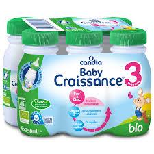 Pack Lait de croissance 3 BIO, Candia baby croissance (6 x 25 cl)