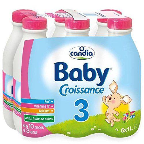 Pack Lait de croissance 3 - de 10 mois à 3 ans, Candis baby (6 x 1 L)