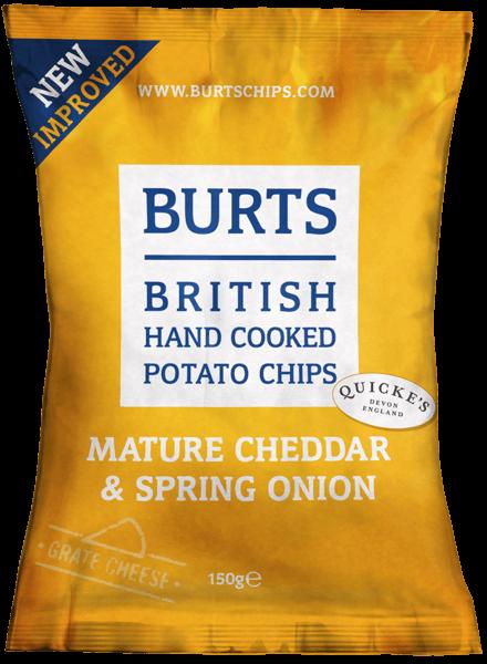 Chips au cheddar et aux oignons, Burts (150 g)
