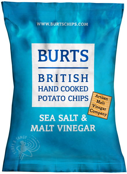 Chips au vinaigre de malt et sel de mer, Burts (150 g)