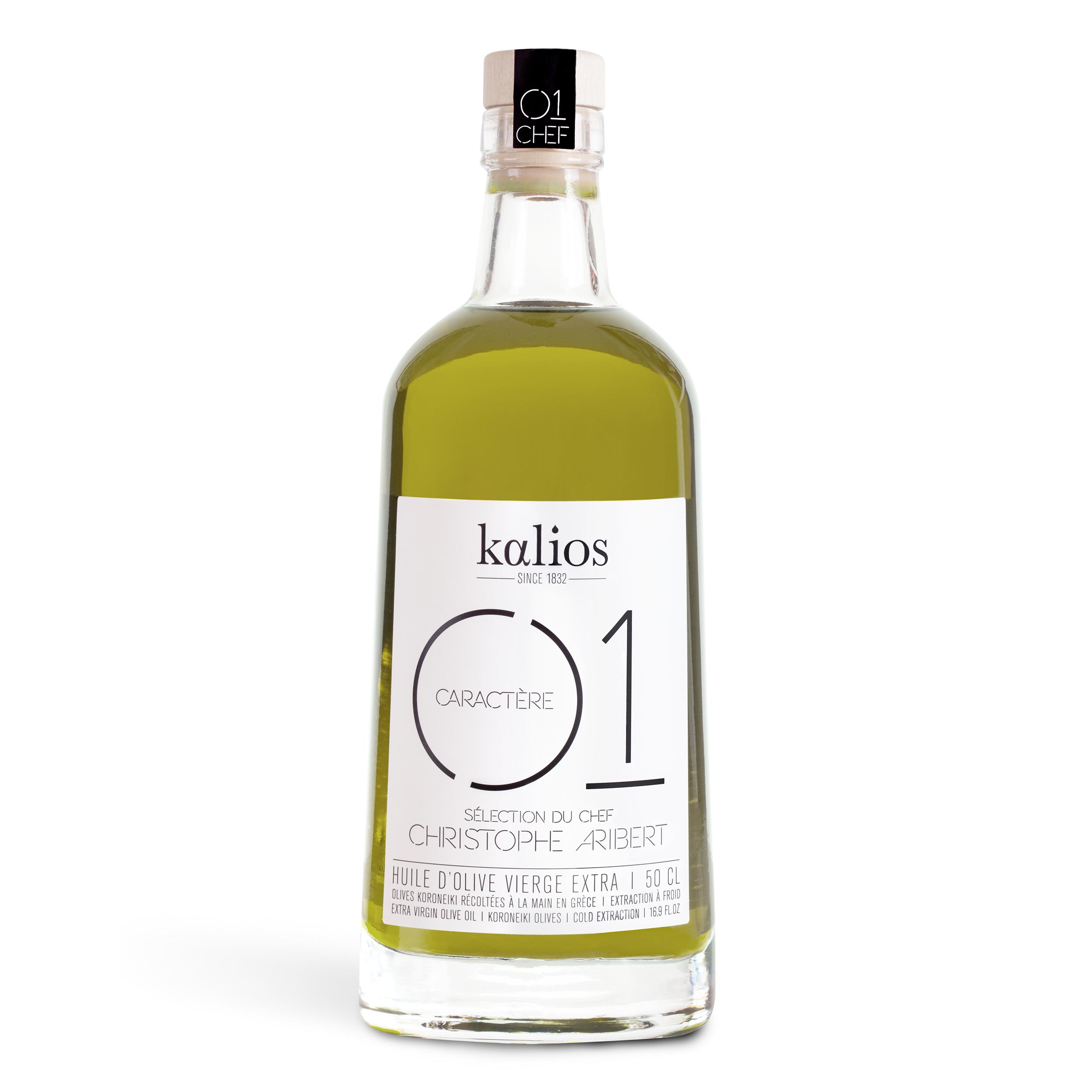 Huile d'olive 01 Caractère Chef Christophe Aribert, Kalios (50 cl)
