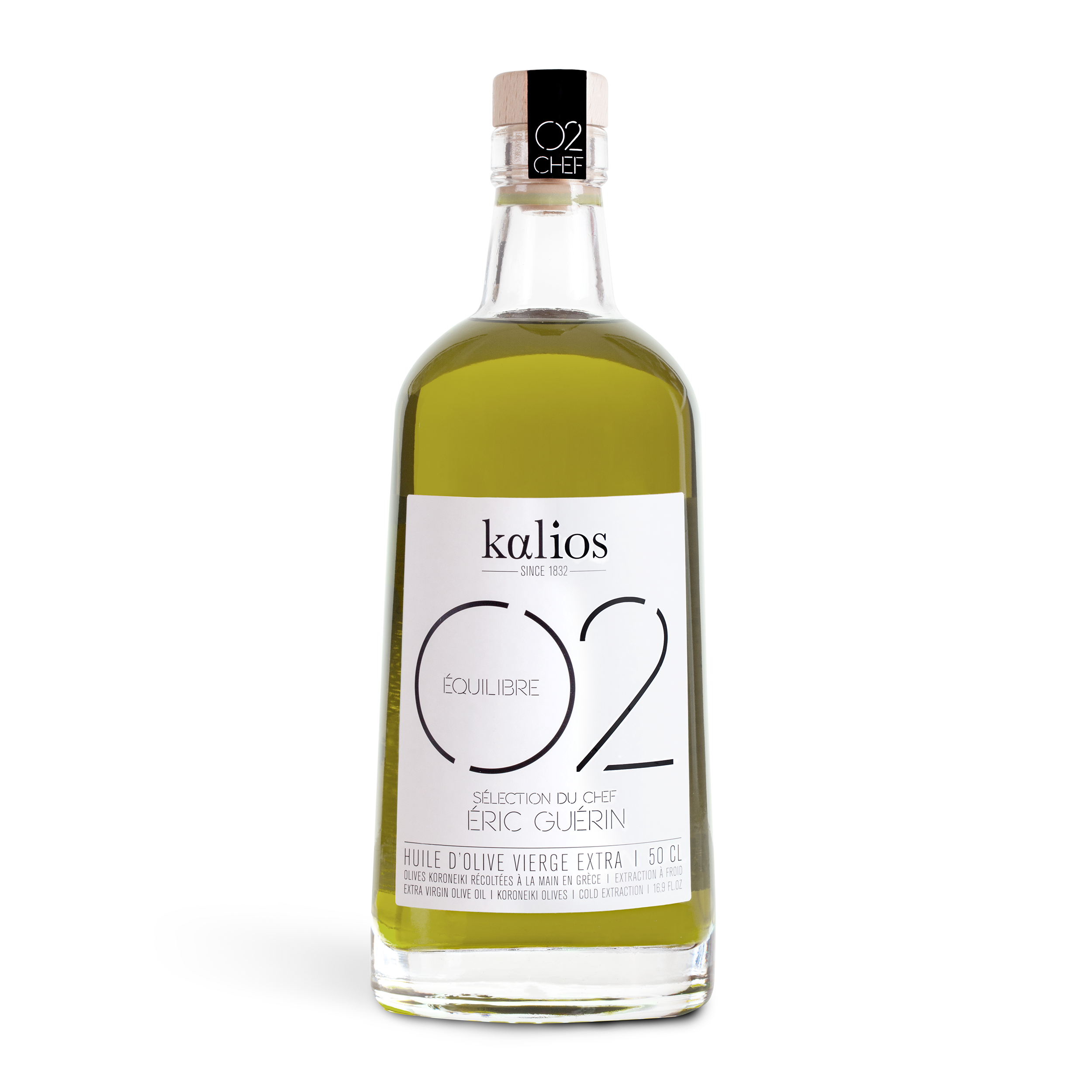 Huile d'olive 02 Equilibre Chef Eric Guérin, Kalios (50 cl)