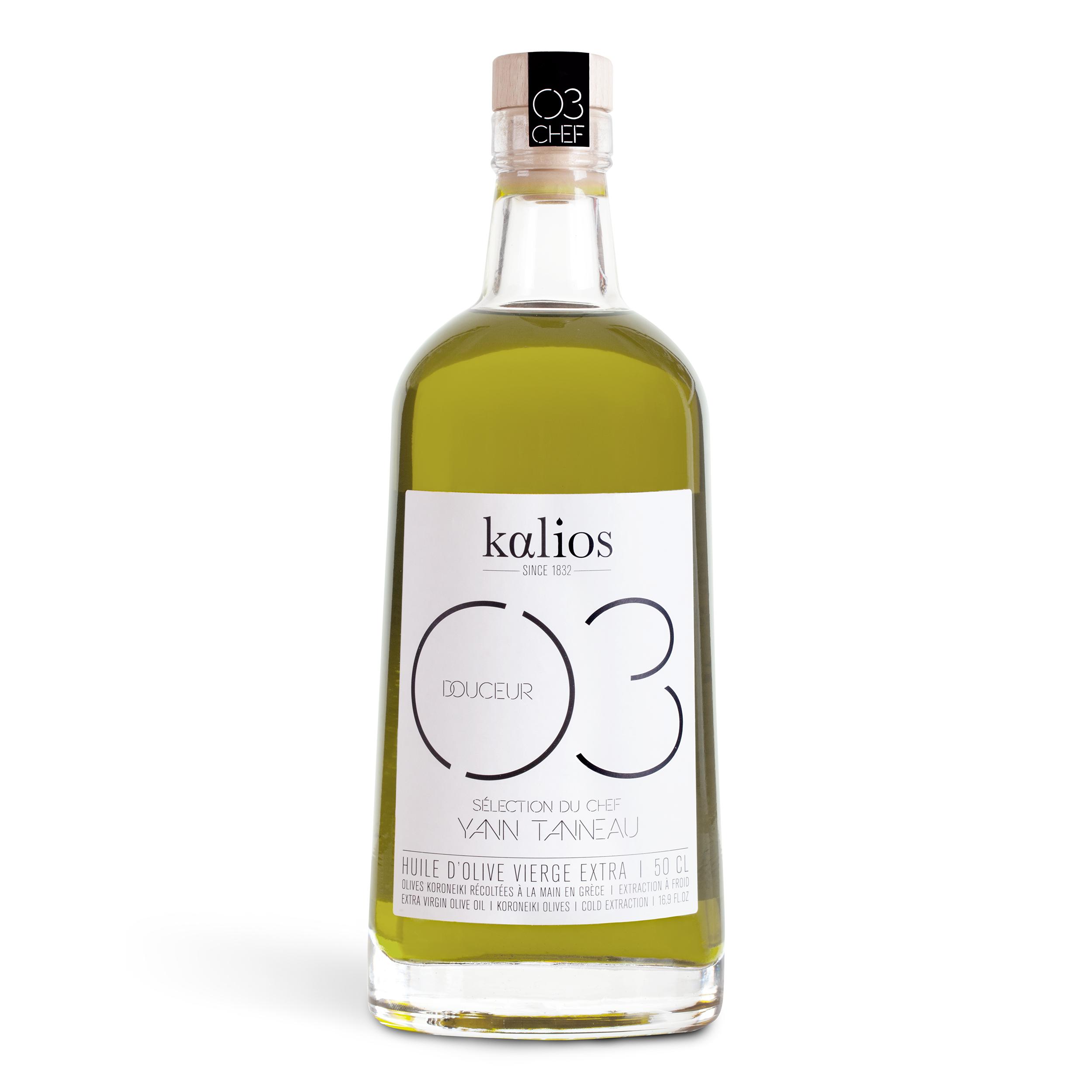Huile d'olive 03 Douceur Chef  Yann Tanneau, Kalios (500 ml)