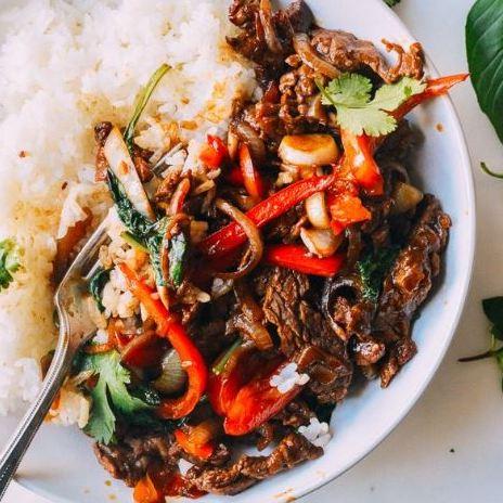 Pad Gra Prow, boeuf au basilic thaï (400 g)