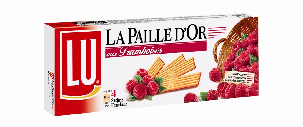 Biscuit Paille d'or framboise, Lu (170 g)