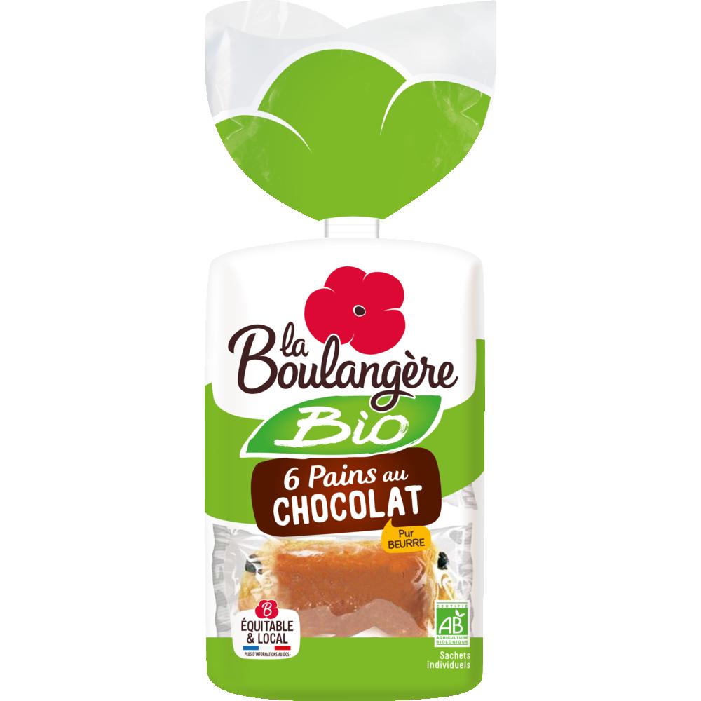Pains au chocolat BIO, La Boulangère (x 6, 270 g)
