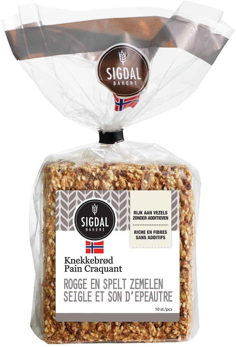 Pain craquant Norvegien - Seigle et son d'épeautre, Sigdal Bakeri (190 g)