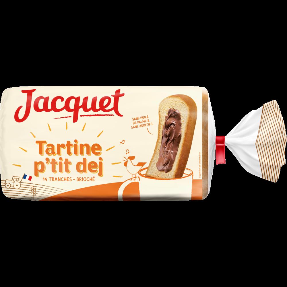 Pain de mie tartine p'tit déj brioché, Jacquet (410 g)