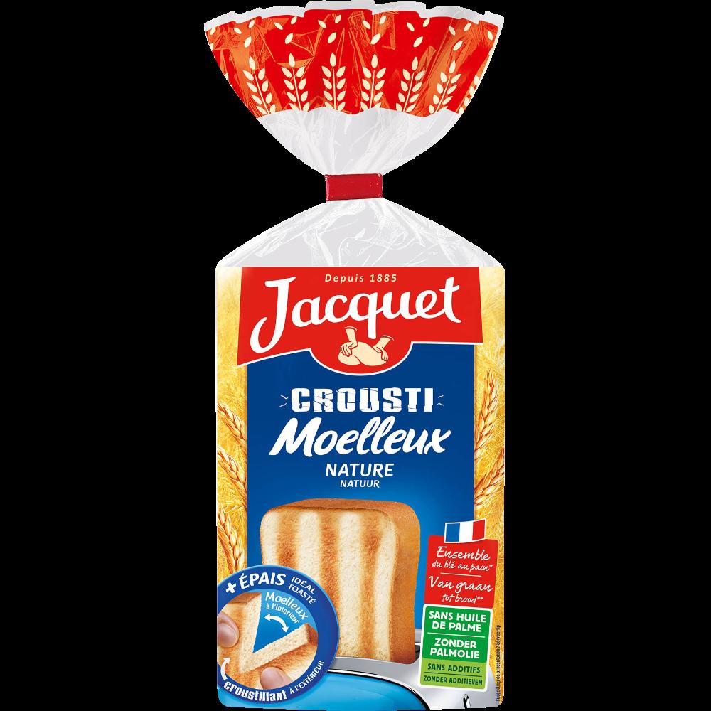 Pain de mie Crousti moelleux Nature, Jacquet (730 g)