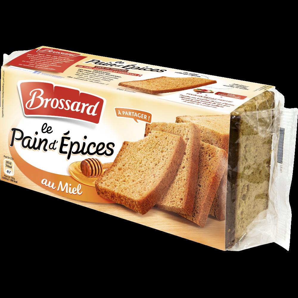 Pain d'épices au miel, Brossard (350 g)