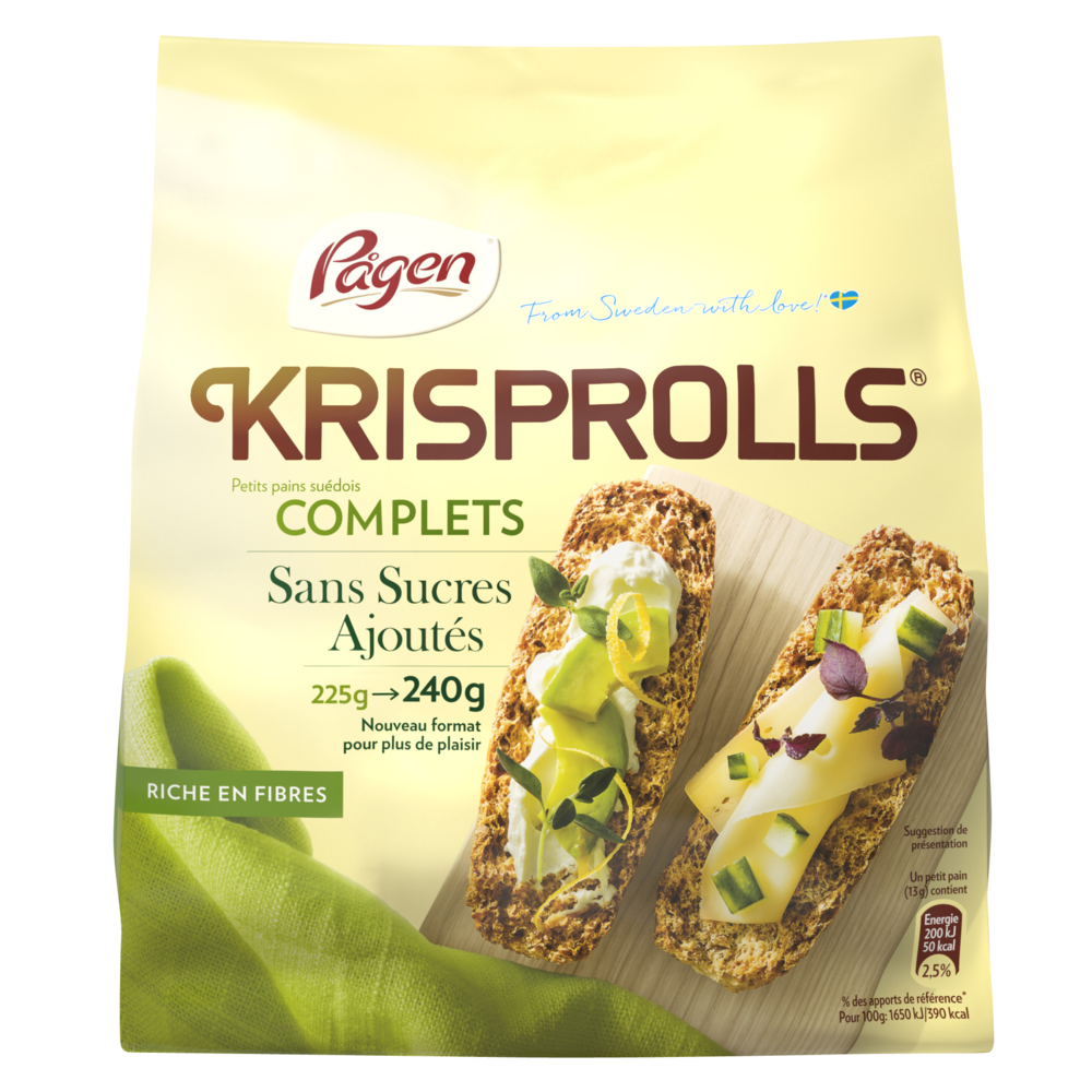 Krisprolls nature complet sans sucre (240 g)