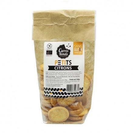 Palets au citron sans gluten BIO, Carrés Ronds (160 g)