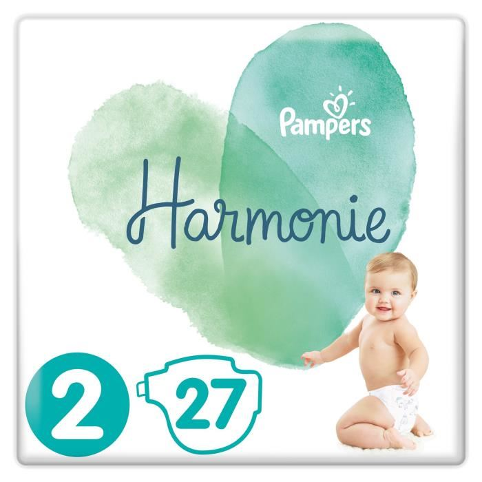 Couches Harmonie T2 / 4-8 kg, Pampers (x 27)