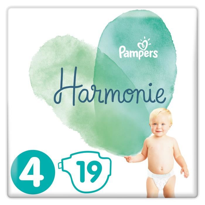 Couches Harmonie T4 / 9-4 kg, Pampers (x 19)