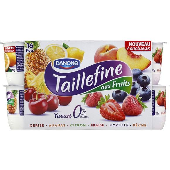 Yaourt Taillefine aux Fruits panachés, Danone (16 x 125 g)