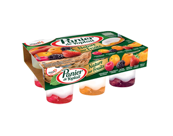 Yaourt nature sur fruits panachés, Yoplait (6 x 140 g)
