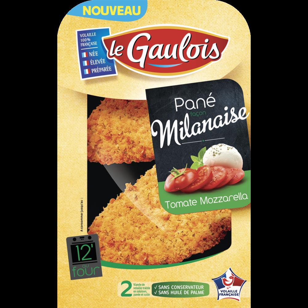 Panés façon milanaise tomate mozzarella, Le Gaulois (x 2, 200 g)