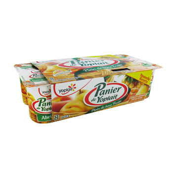 Yaourt aux fruits jaunes, Panier de Yoplait (8 x 125 g)