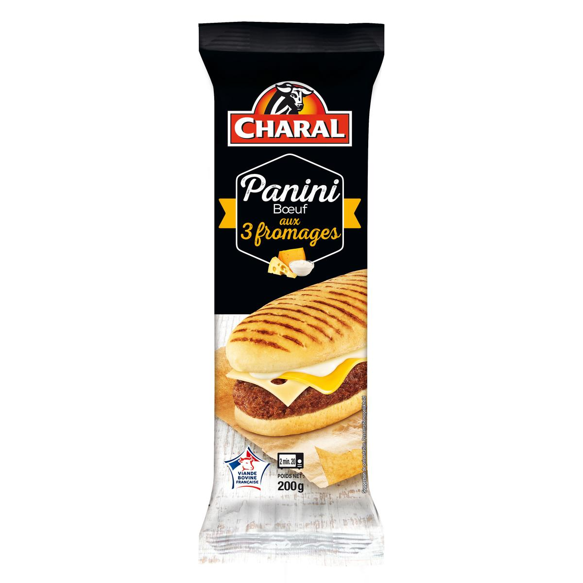 Panini 3 fromages, Charal (200 g)