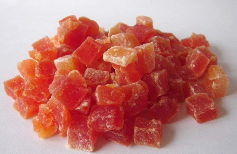 Cubes de papaye séchée (120 g)