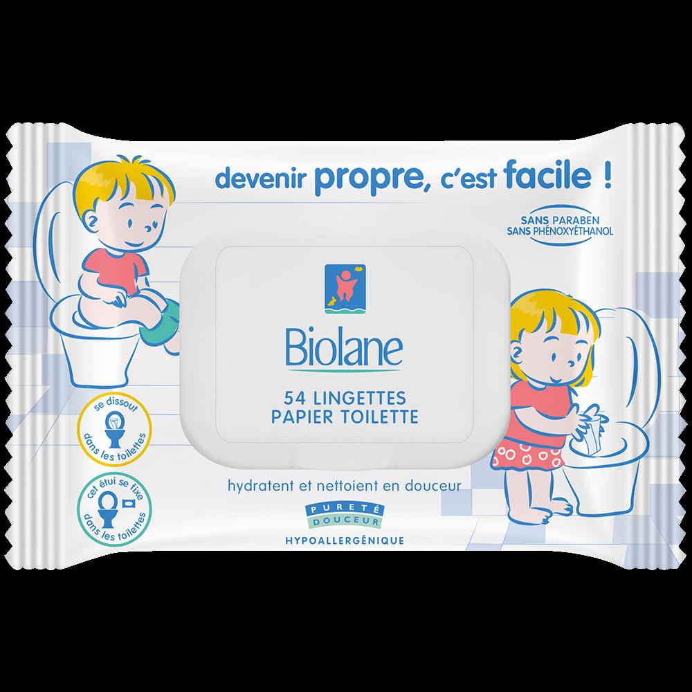 Lingettes Papier toilette, Biolane (x 54)