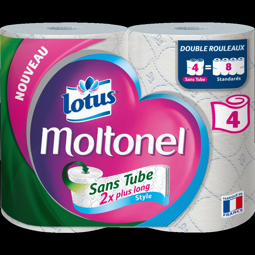 Papier toilette moltonel sans tube, Lotus (x 4)