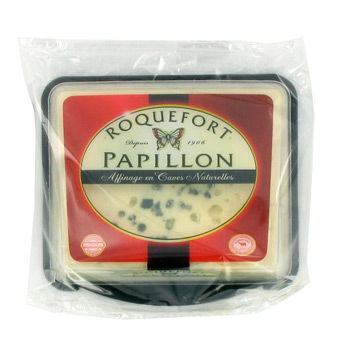 Roquefort AOP 32% MG, Papillon (125 g)