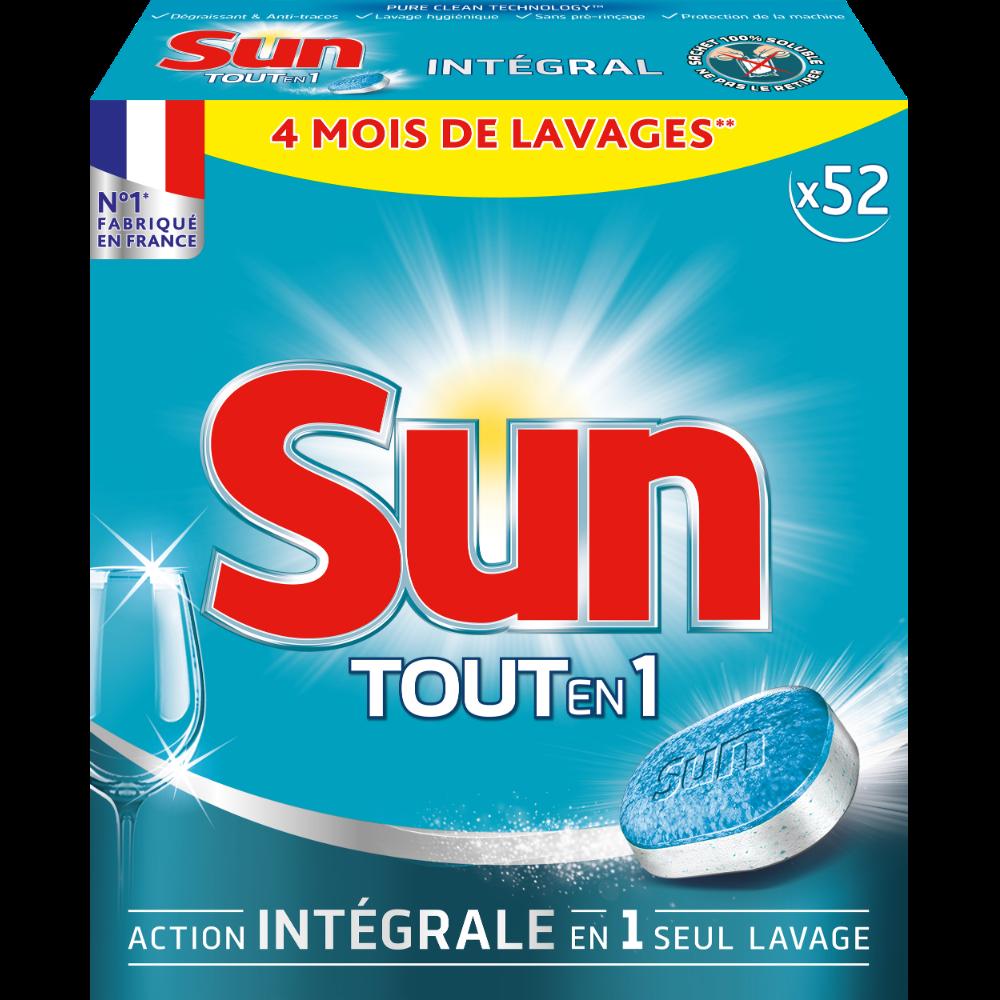 Tablettes pour lave vaisselle Sun tout en 1 (x 52)