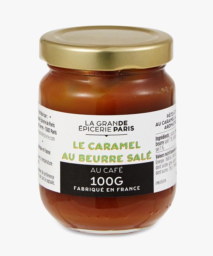 Pâte à tartiner au caramel au beurre salé aromatisé au café, La Grande Epicerie de Paris (100 g)