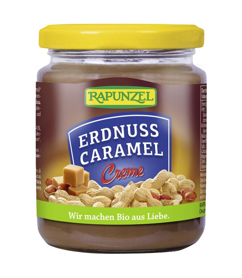 Pâte à tartiner cacahuète et caramel BIO, Rapunzel (250 g)