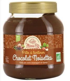 Pâte à tartiner BIO noisette et cacao sans huile de palme, Mamie Bio (750 g)