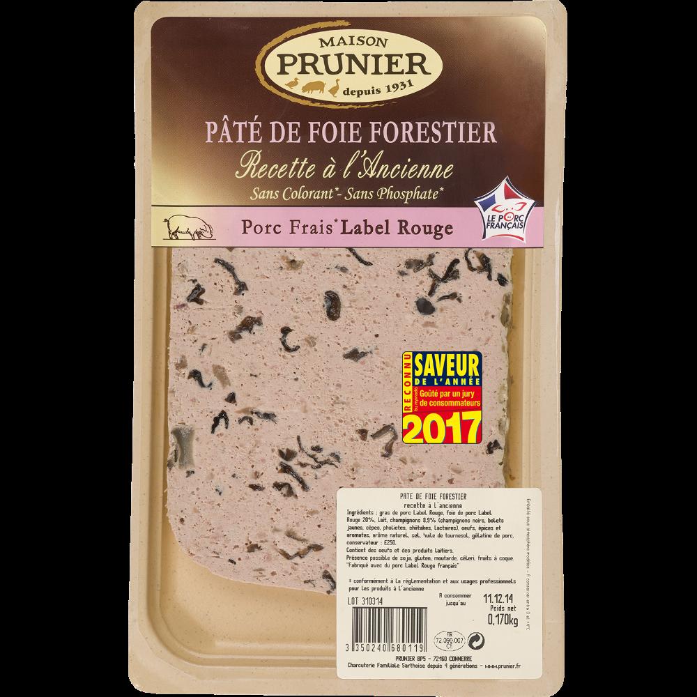 Pâté de foie forestier à l'ancienne en tranche, Prunier (170 g)