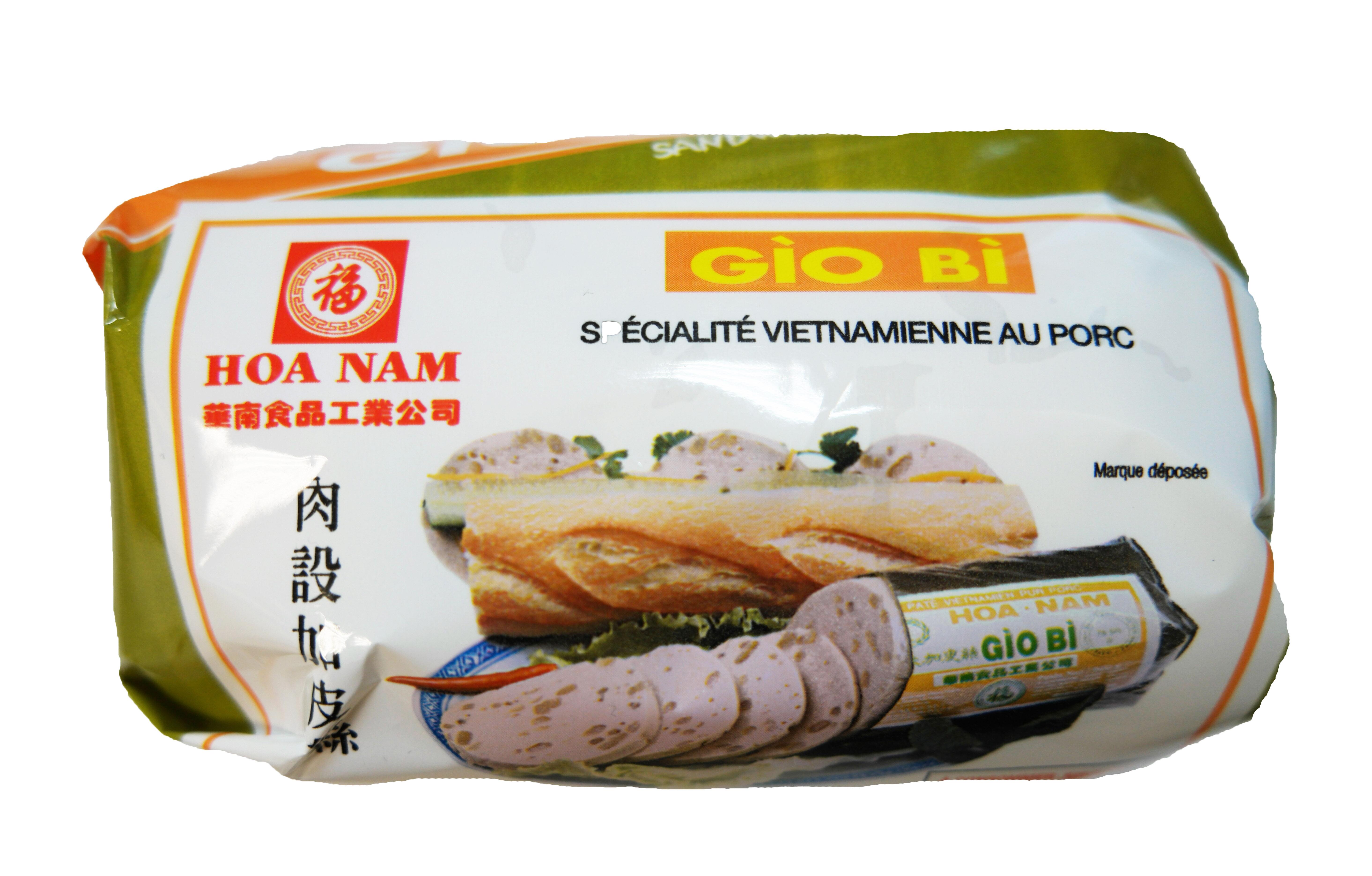 Pâté vietnamien au porc avec couenne Gio Bi, Hoanam (500 g)