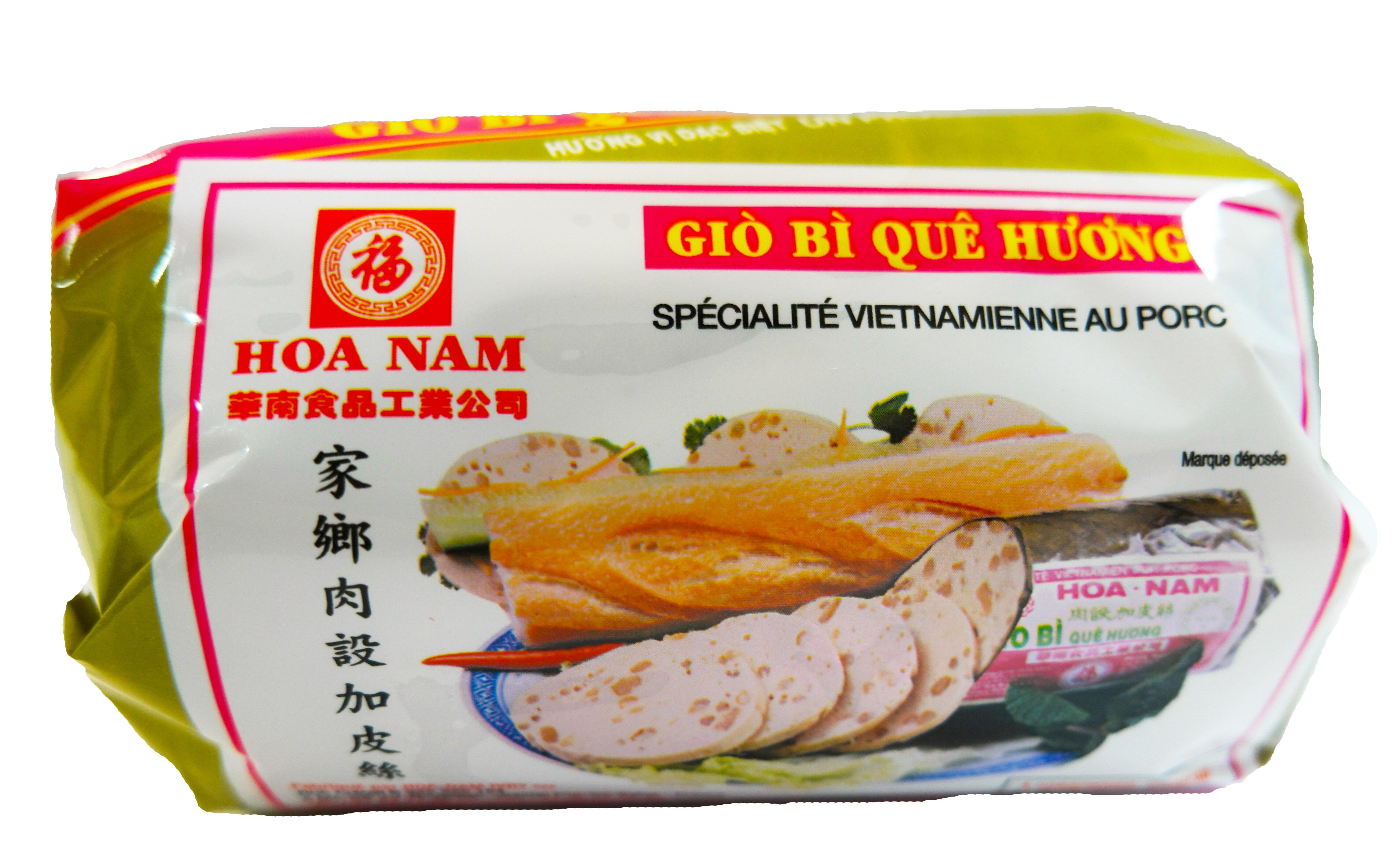 Pâté vietnamien au porc avec couenne Gio Bi Que Huong, Hoanam (500 g)