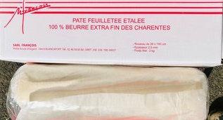 """Rouleau de pâte feuilletée """"François"""" pré-étalée (3 kg) Congélation possible"""
