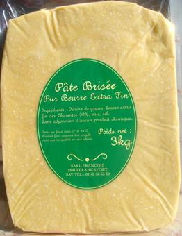 Pâte brisée artisanale «François» au beurre Pamplie (env. 400 g)