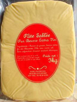 Pâte sablée artisanale «François» au beurre pamplie  (env. 400 g)