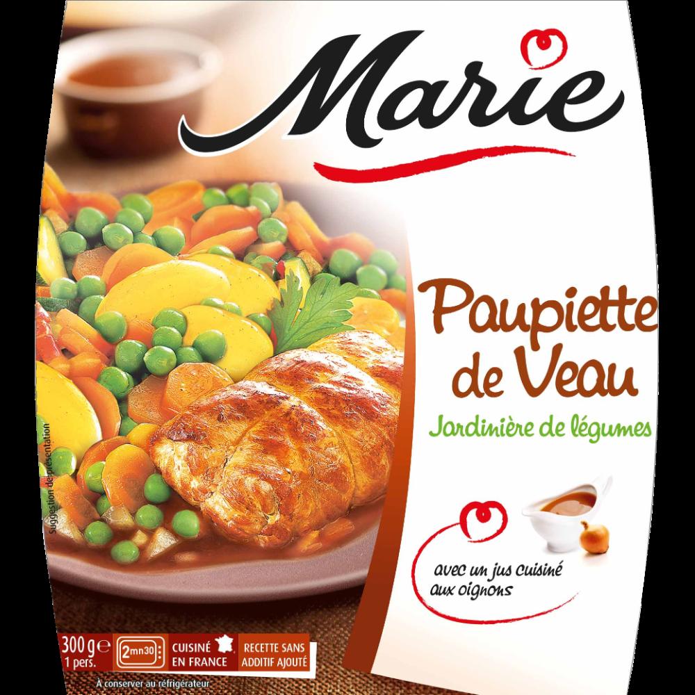 Paupiette de veau jardinière de légumes, Marie (300 g)