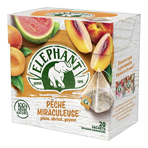 Infusion Pêche miraculeuse, Elephant (20 sachets)