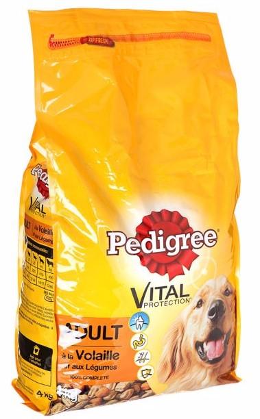 Croquettes pour chien adulte à la volaille et aux légumes, Pedigree (4 kg)