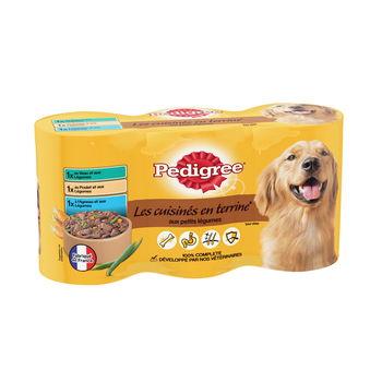 Terrine pour chien au veau/ poulet/ agneau, Pedigree (3 x 410 g)
