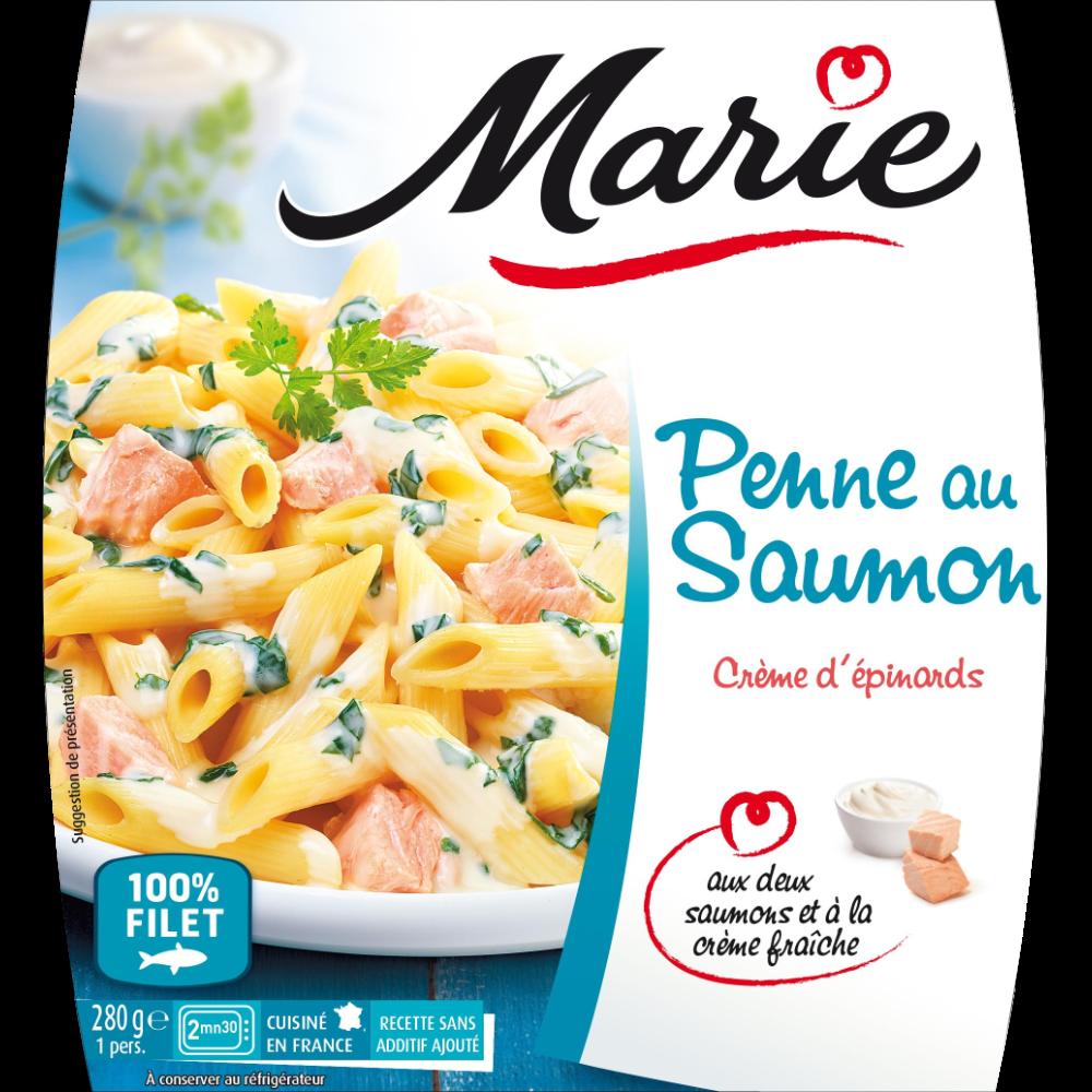 Penne saumon crème d'épinard, Marie (280 g)